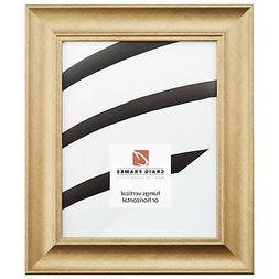 """Craig Frames 1.75"""" Contemporary Brushed Gold Picture Frames"""