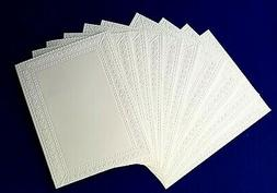 10 PHOTO FRAME White Embossed A2 Card Fronts Recollections C