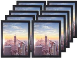 Frame Amo 10x12 Black Wood Picture Frame, Glass Front, for W