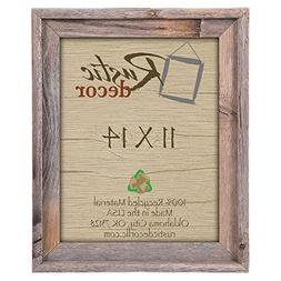 """11x14 - 2"""" Wide Signature Reclaimed Rustic Barnwood Wall Fra"""