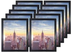 Frame Amo 11x14 Black Wood Picture Frame, Glass Front, for W