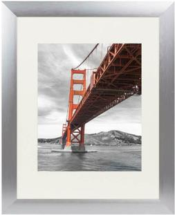 Frametory, 11x14 Metal Picture Frame Collection, Aluminum Si