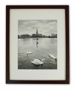 11x14 Photo Wood Collage Frame with REAL GLASS and mat for 8