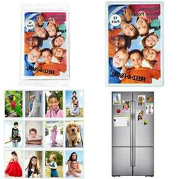 """12 Pack 4 X 6 Magnetic Picture Frames Holds 6"""" Photo For Ref"""