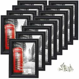 8 Pack 5x7 Picture Frames White Photo Frame Set Wall Hanging