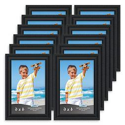 12 Pack Black 4x6 Picture Frames Wall Mount or Table TopInsp