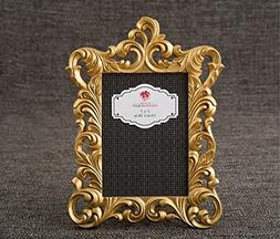Fashioncraft 12862 Gold Metallic Baroque Frame 5x7 From Gift