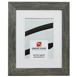 Craig Frames 10x12 Gray Barnwood Picture Frame, Matted to Di