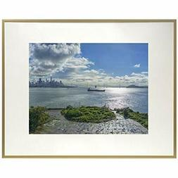 - Frametory, 12x16 Inch Gold Metal Picture Aluminum Thin Mol