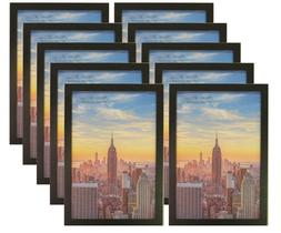 Frame Amo 12x18 Black Wood Picture or Poster Frame, 1 inch W
