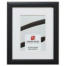 Craig Frames 1WB3BK 8X12 Black Picture Frame Matted to Displ