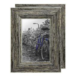 Americanflat 2 Pack - 4x6 Rustic Style Picture Frames - Buil