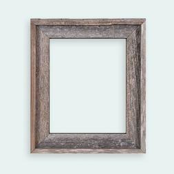 """2"""" Wide Reclaimed Rustic Barnwood Open Frame - No Glass Or B"""