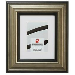 21307202 18x24 Aged Silver & Black Picture Frame Matted to D
