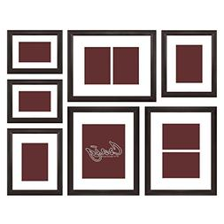 Craig Frames 23247778 Picture Frame 7-Piece Wall Set, Brown