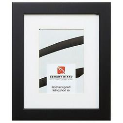 Craig Frames 26273 20x24 Black Satin Picture Frame Matted to