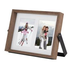 VonHaus 2x Standing & Wall Hanging Picture Frames for 4x6 Ph