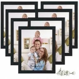 7 Pack of 8x10 Picture Frames Black Photo Frame Set Wall Han