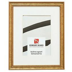 Craig Frames 314GD 11x14 Ornate Gold Picture Frame, Matted t