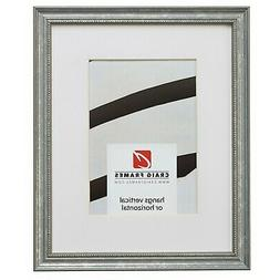 Craig Frames 314SI 12x12 Aged Silver Picture Frame Matted to