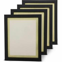 4x Document Frame w/ Blank Certificate Paper for Diploma Pho