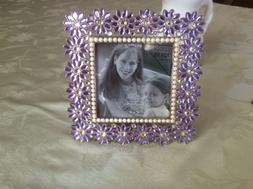 Green Tree Gallery 4x4 Square Picture Frame Purple lavender