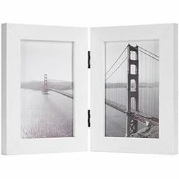 - Frametory, 4x6 Inch Hinged Picture With Glass Front Made D