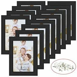 Giftgarden 4x6 Picture Frame Black Photo Frames for Wall or