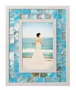 5 Picture Frame Mother of Pearl Photo Frame Tabletop/ Wall H
