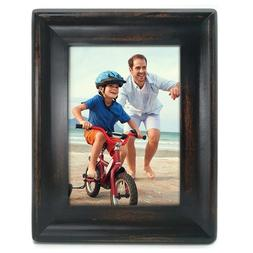 5 x 7 Inch Retro Wood Picture Frame Tabletop Wall Hanging Ha