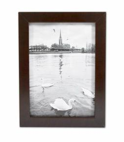 Golden State Art, 5x7 Espresso Color Wood Swan Photo Frame w
