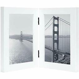 - Frametory, 5x7 Inch Hinged Picture With Glass Front Made D