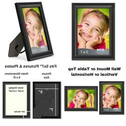 Icona Bay 5X7 Picture Frame , Black Photo Frame 5 X 7, Compo