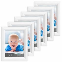 Icona Bay 5x7 Picture Frame, 6pack, Aspen White