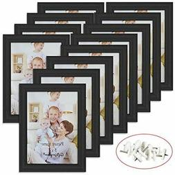 Giftgarden 5x7 Picture Frame for Wall Decor or Tabletop Blac