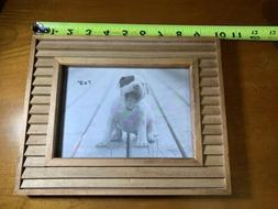 5x7 Solid Wood Photo Picture Frame, freestanding or hanging