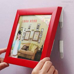 69D7 Removable Magic Picture Frame Hanging Hook Strips Wall