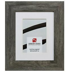 74030 12x18 Faux Gray Barnwood Picture Frame Matted to Displ