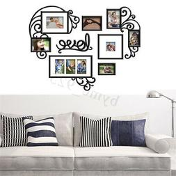 7PCS Love Photo Picture Frame Set Collage Black Gallery Wall