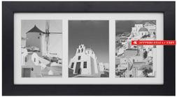 Golden State Art, 7X14 Black Photo Wood Collage Frame With M
