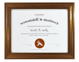 8.5x11 Photo Frame for Diploma / Certificate, Dark Gold Colo