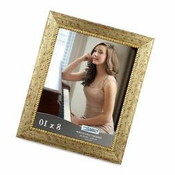 Icona Bay 8x10 Picture Frame , Gold Photo Frame 8 x 10, Wall