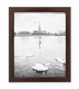 Golden State Art, Walnut Color Photo Wood Collage Frame with