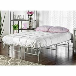Furniture of America Polosa Full Bed Frame in Silver
