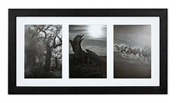 Golden State Art, 9x18 Black Photo Wood Collage Frame with M