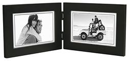 Malden Double Horizontal 4x6 Picture Frame - Wide Real Wood