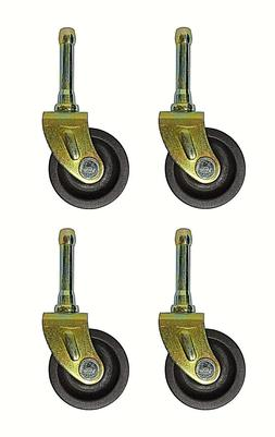 SET OF  BED  FRAME LOW CASTER WHEELS WITH SOCKET INSERTS