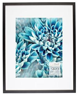 Snap 16x20 Black Wood Frame with Single White Mat For 11x14