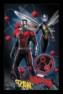 ANT MAN AND THE WASP FLOATING MOLECULES 13x19 FRAMED GELCOAT