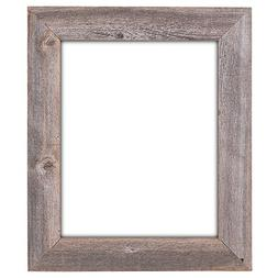 16x20 Natural Barn Wood Extra Wide Open Frame